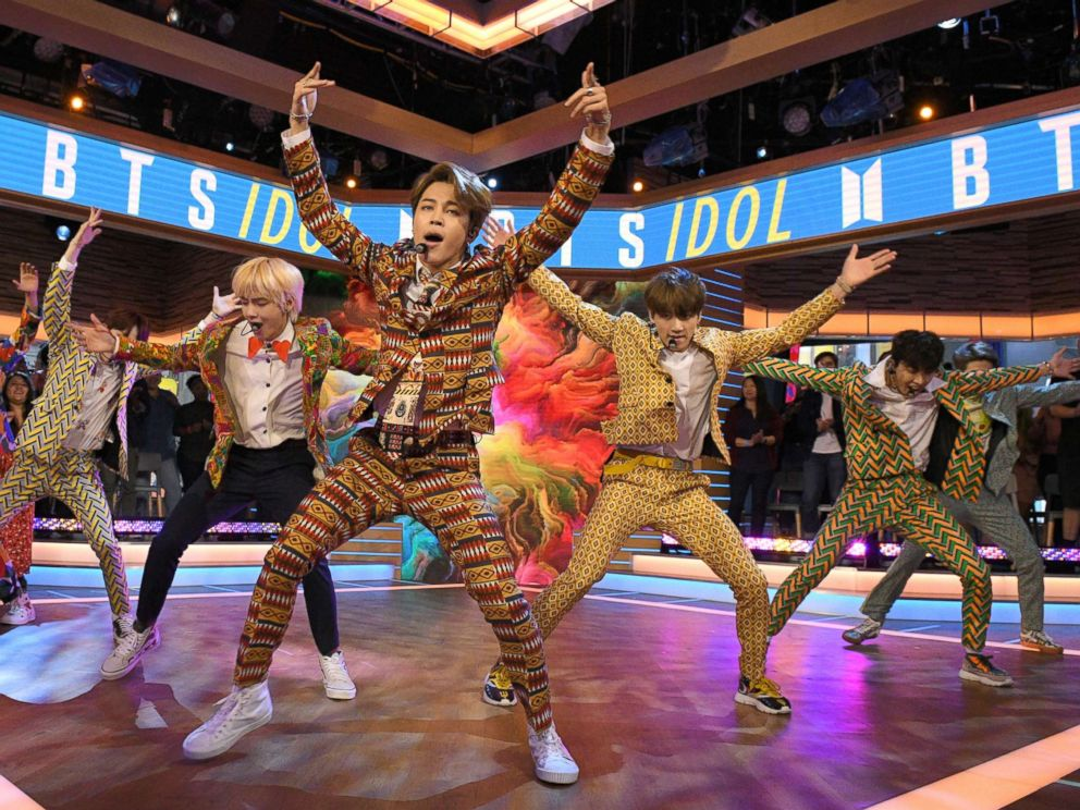PHOTO: BTS, one of the biggest boy bands in the world, made their debut on Good Morning America today, live in Times Square, Sept. 26, 2018.
