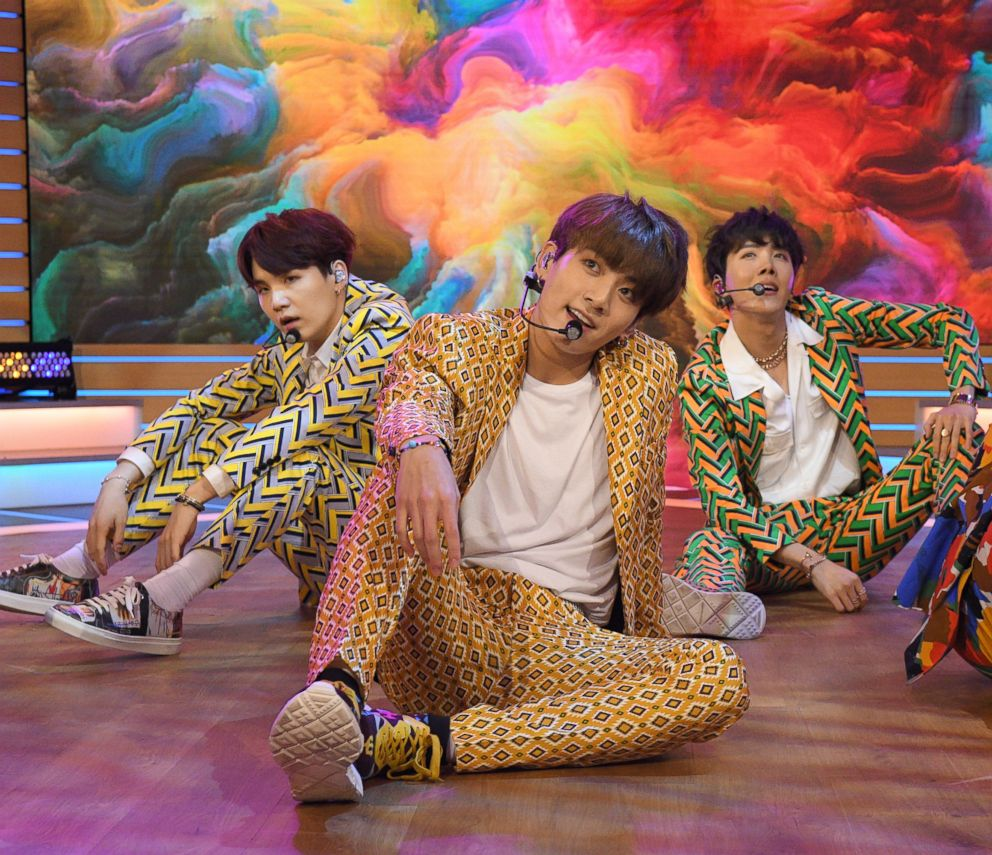 "BTS, one of the biggest boy bands in the world, made their debut on ""Good Morning America"" today, live in Times Square, Sept. 26, 2018."