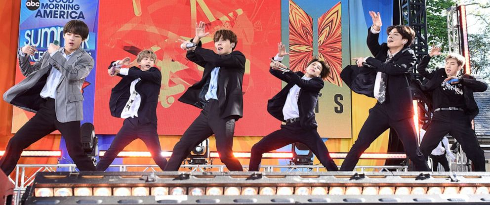 "PHOTO: BTS kicked off the ""Good Morning America"" 2019 Summer Concert Series in Central Park on May 25, 2019."