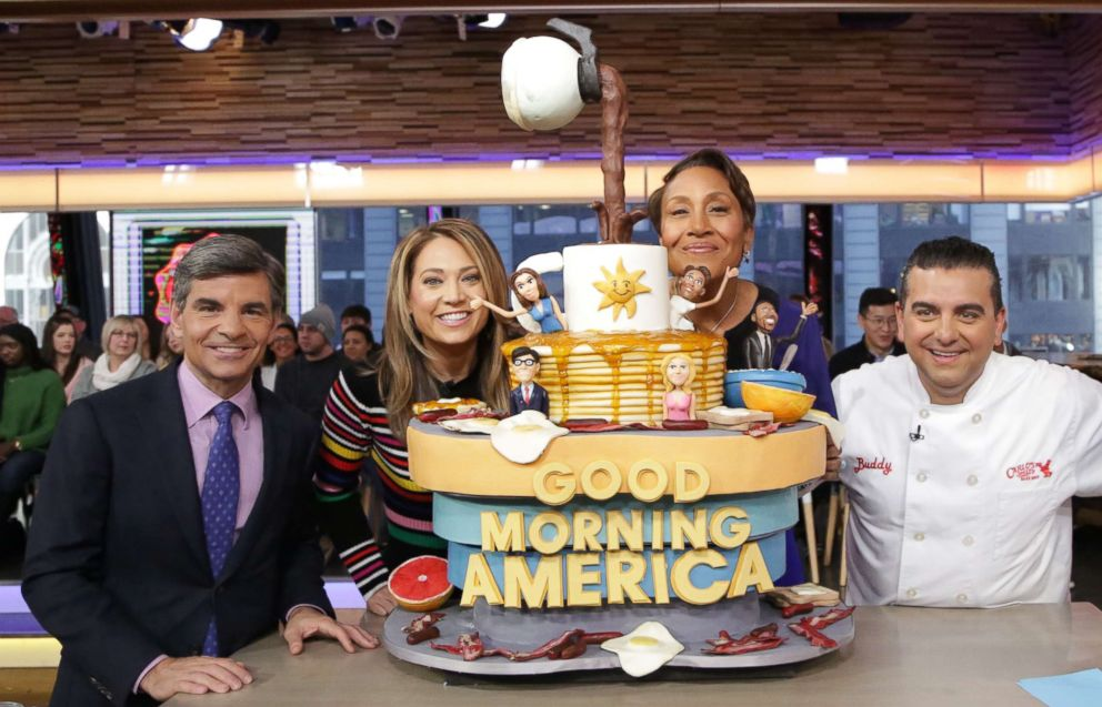 PHOTO: Buddy Valastro with his Good Morning America inspired breakfast cake.