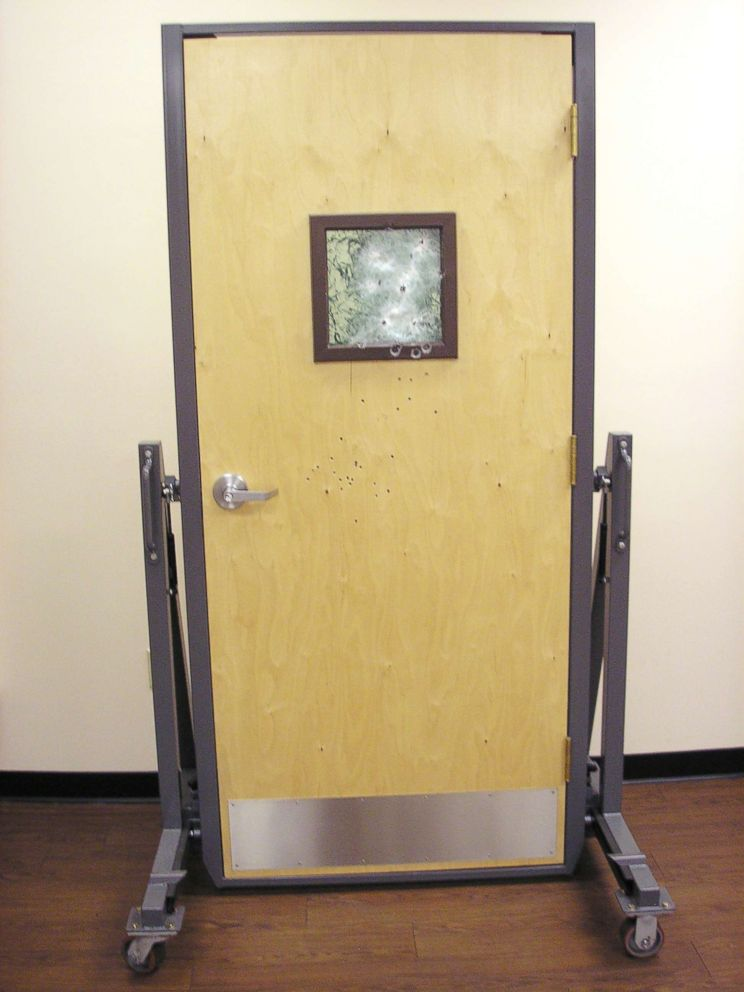 PHOTO: A bulletproof door is pictured in this undated photo.