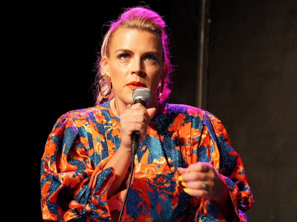 PHOTO: Busy Philipps moderates a panel at UCB Sunset Theater on May 29, 2019, in Los Angeles.