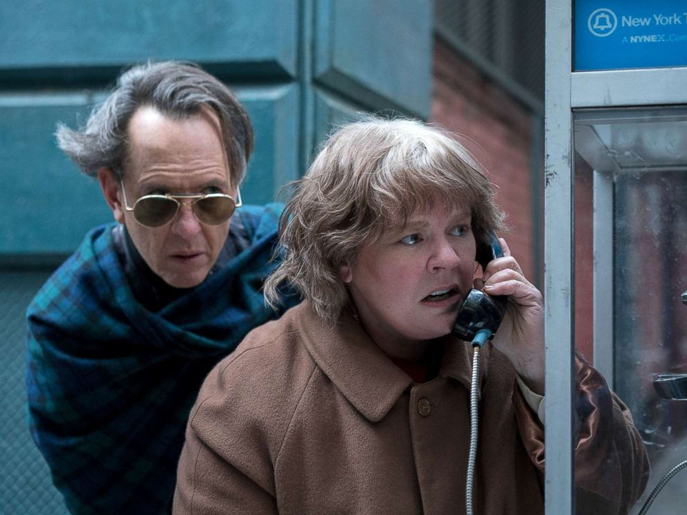 PHOTO: Richard Grant and Melissa McCarthy appear in a scene from the 2018 film, Can You Ever Forgive Me?
