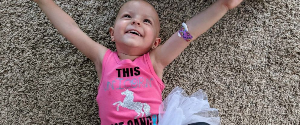 PHOTO: McKenna Shea Xydias, the toddler who captured national attention after she was diagnosed with a rare ovarian cancer, is now cancer-free.
