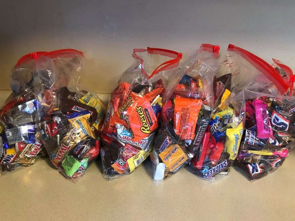 Marilee Bradley of Lincoln, Nebraska, has six children who collected a great deal of candy this Halloween.
