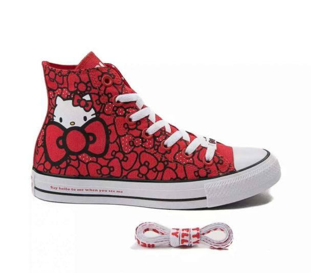 Compadecerse Disminución Disgusto  We're paw-sitively in love with the Hello Kitty Converse collection | GMA
