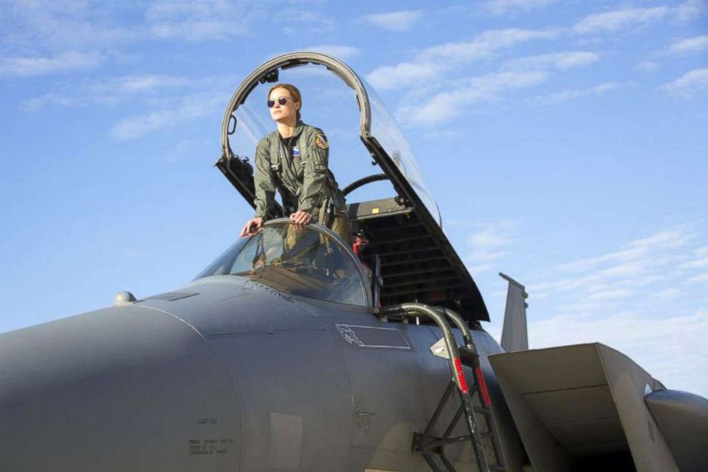 PHOTO: Brie Larson in a scene from the movie Captain Marvel.