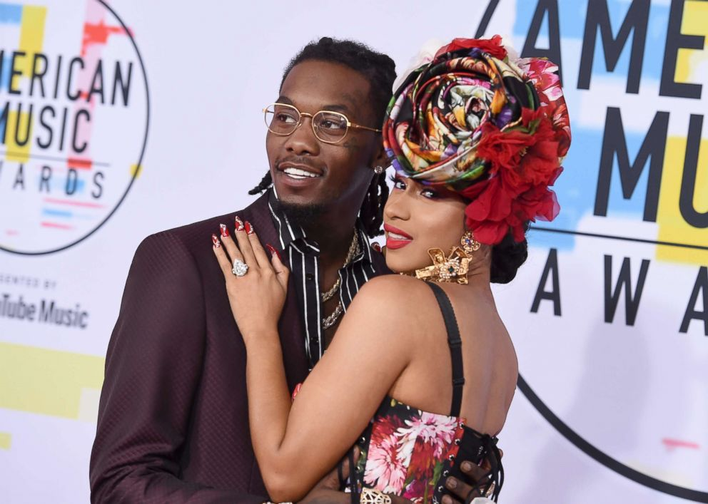 PHOTO: Offset and Cardi B arrive at the American Music Awards on Oct. 9, 2018, at the Microsoft Theater in Los Angeles.
