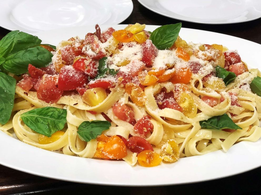 PHOTO: GMA Day food contributor Carla Hall shares her recipe for marinated tomato fettuccine.