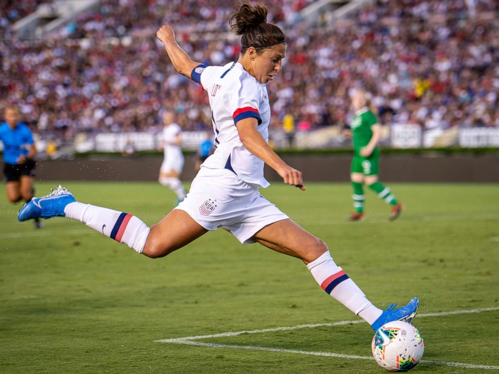 Carli Lloyd received offer to kick in National Football League preseason game, trainer says