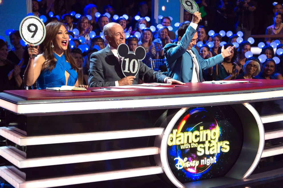 PHOTO: The judges score a competitor on Dancing with the Stars.