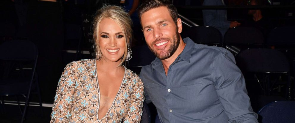 PHOTO: Carrie Underwood and Mike Fisher attend the 2019 CMT Music Awards at Bridgestone Arena on June 05, 2019 in Nashville, Tn.