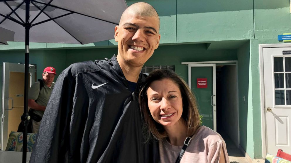 Casey Orellana, a neonatologist at Mercy Children's Hospital in Missouri, poses with her husband, Phil, who is battling cancer