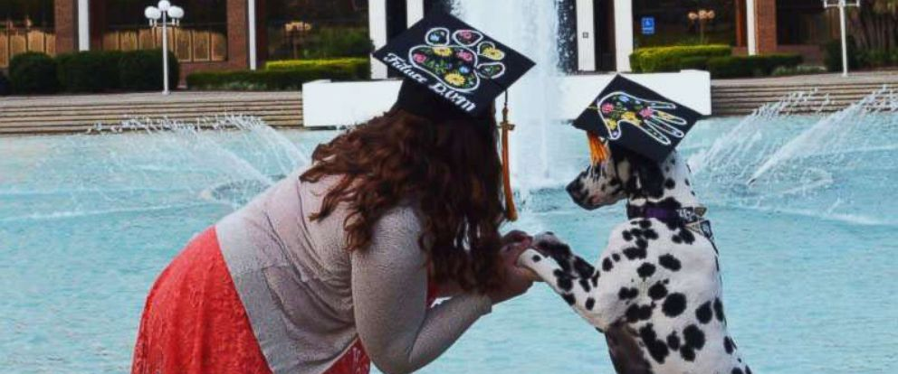 PHOTO: Paisley the Dalmatian accompanied her dog mom, Casey Bruno, 22, on Aug. 4, 2018, the day she graduated from the University of Central Florida.