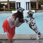Paisley the Dalmatian accompanied her dog mom, Casey Bruno, 22, on Aug. 4, 2018, the day she graduated from the University of Central Florida.