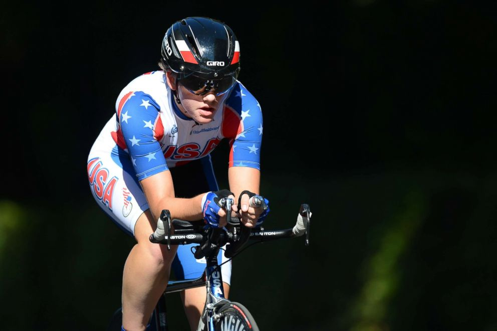 PHOTO: Kelly Catlin competes in the UCI Road World Championships, Sept. 23, 2013, in Florence, Italy.