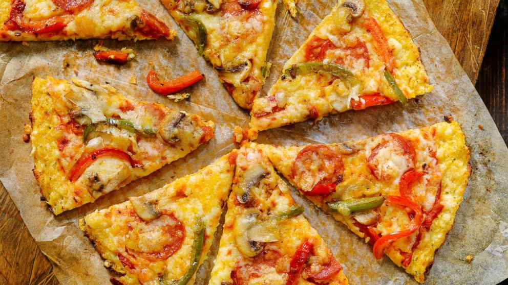 Cauliflower crust deluxe pizza with gluten free pepperoni, mushrooms and peppers is pictured in this undated stock photo.