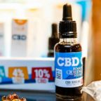 Oils containing CBD (Cannabidiol) are seen in a shop in Paris, June 14, 2018.