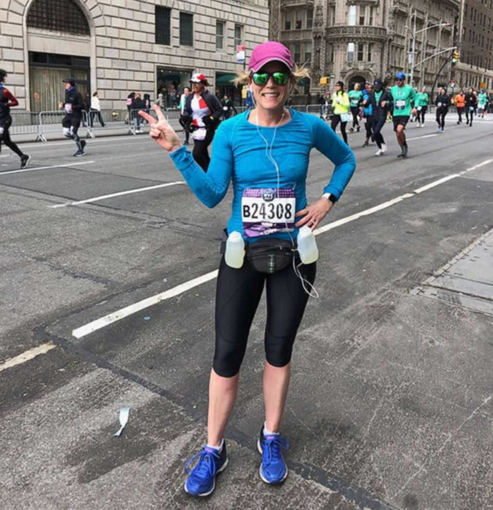 PHOTO: Celeste Yvonne poses for a photo during the New York Half Marathon in March 2019.