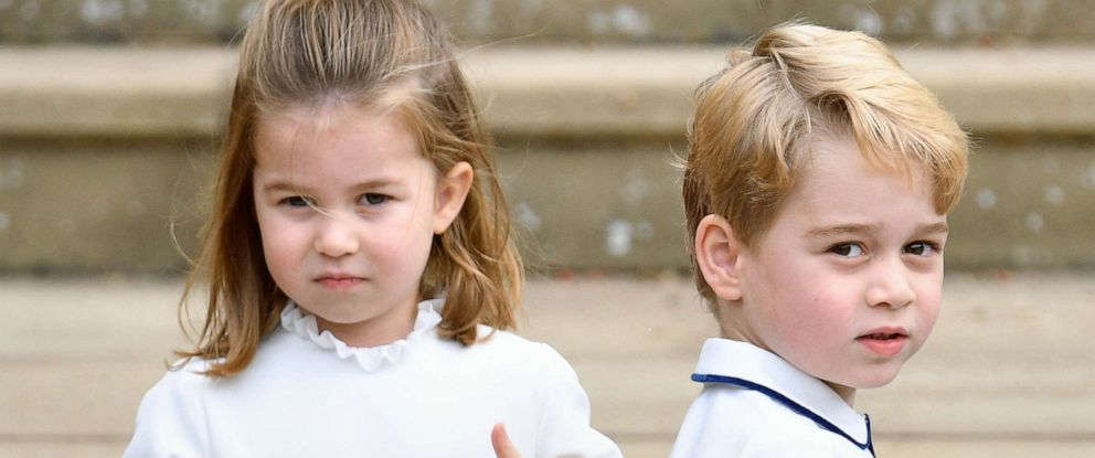 PHOTO: Britains Princess Charlotte and Prince George attend the wedding of Princess Eugenie of York and Jack Brooksbank at St Georges Chapel, Oct. 12, 2018, in Windsor, England.