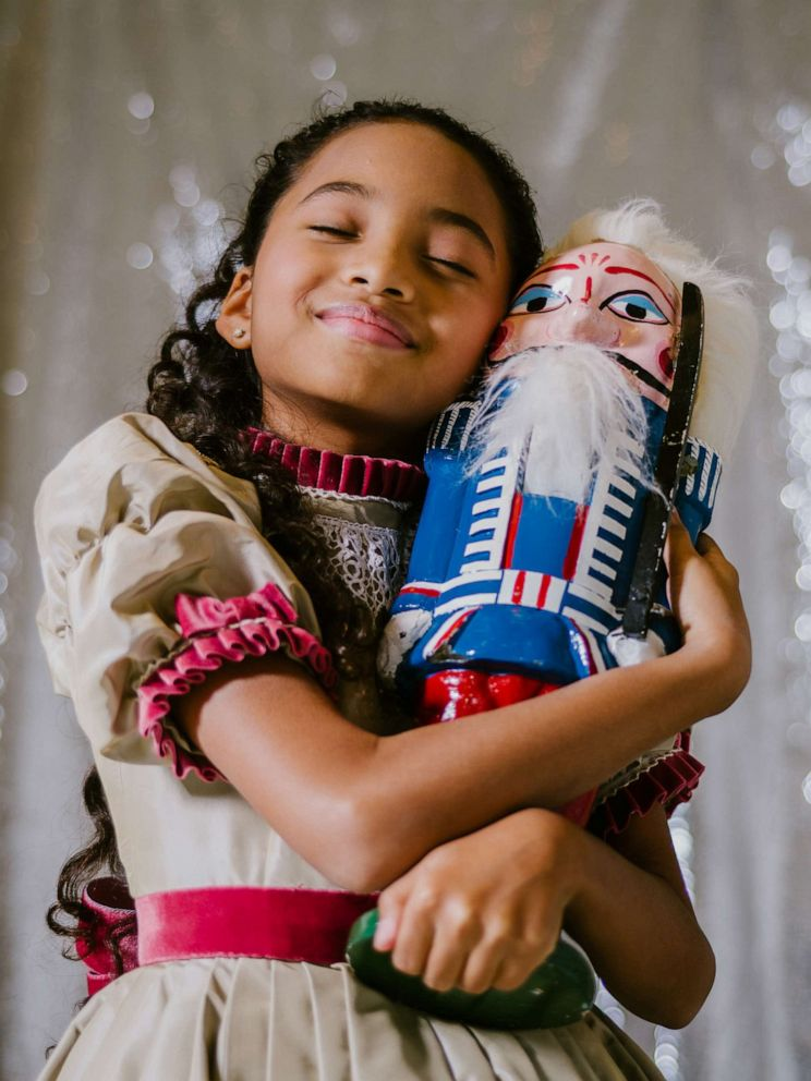 PHOTO: Charlotte Nebres, 11, plays Marie in New York City Ballets George Balanchines The Nutcracker, in New York, Nov. 16, 2019.