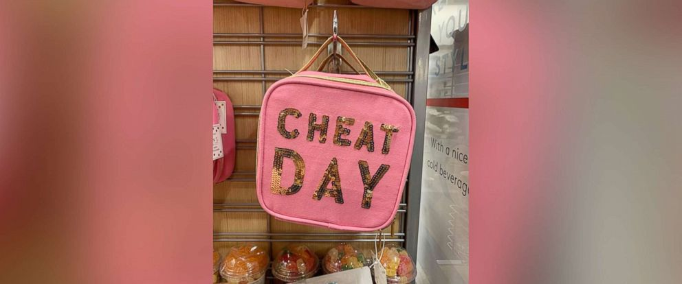 """PHOTO: Sonni Abatta, a mother of three, writer and podcast host, blogged about a pink, glittery lunchbox which read, """"Cheat Day"""" on Feb. 10, 2019. The picture sparked an online debate among parents on Facebook."""