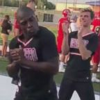 LaDarius Marshall, a sophomore at Navarro College in Corsicana, Texas, has gained viral attention after recent footage of his enthusiasm was shared.