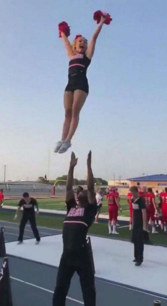 PHOTO: LaDarius Marshall, a sophomore at Navarro College in Corsicana, Texas, has been cheering for five years.
