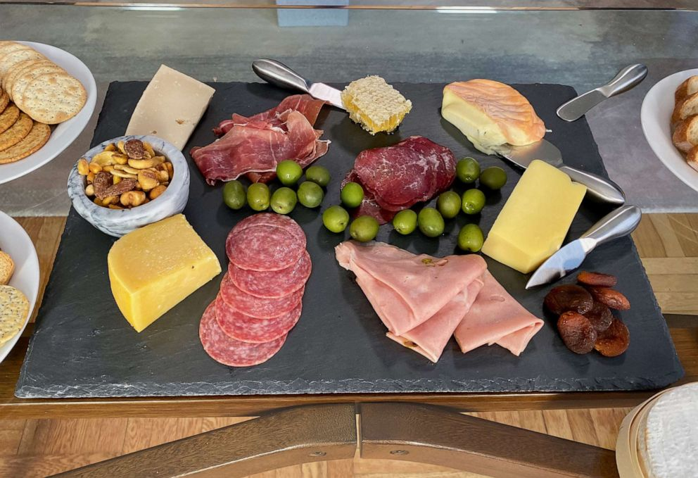 PHOTO: A platter of cheese and meats made by chef Marc Murphy in New York City, Oct. 8, 2019.