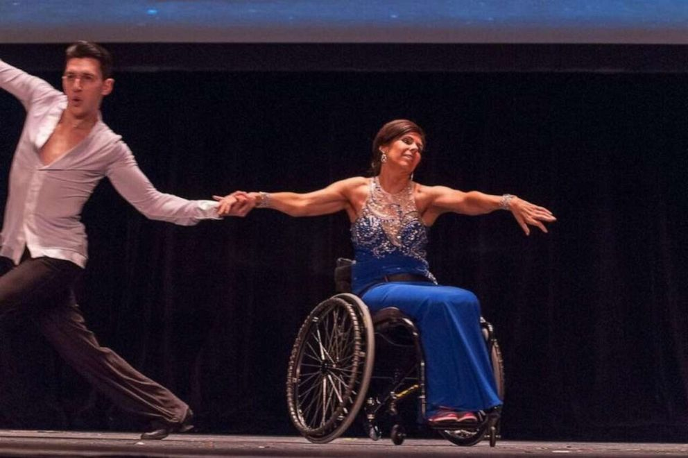 Cheryl Angelelli competes as a wheelchair ballroom dancer in this undated file photo.