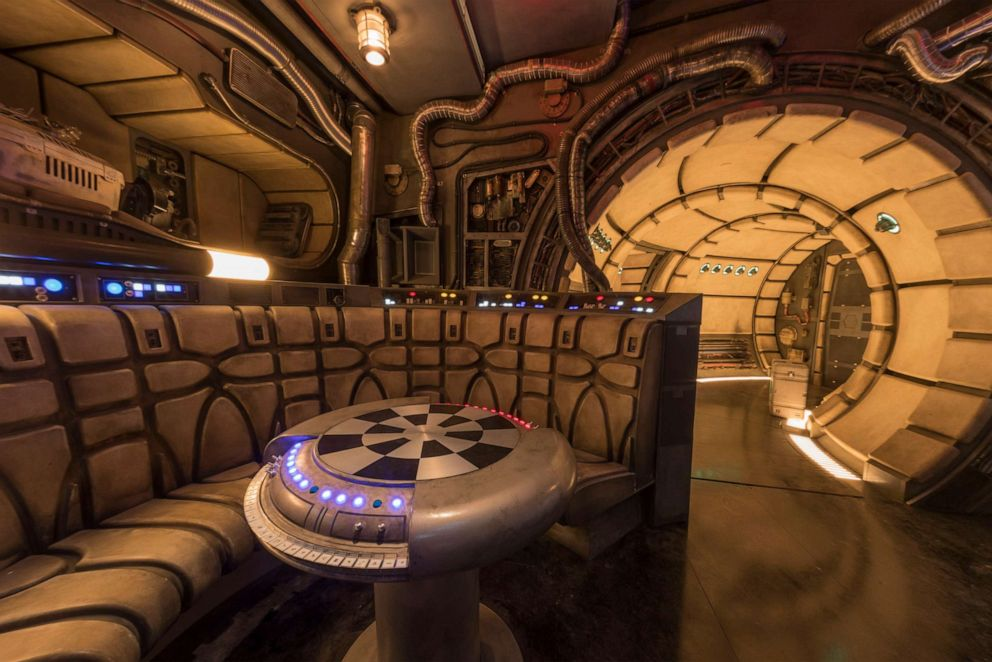 PHOTO: Chess room in Millennium Falcon attraction.