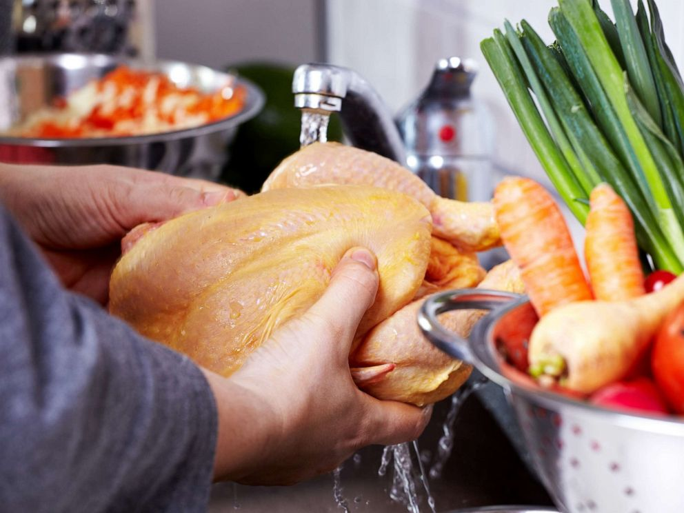 PHOTO: Chicken is prepared a dish in this undated stock photo.