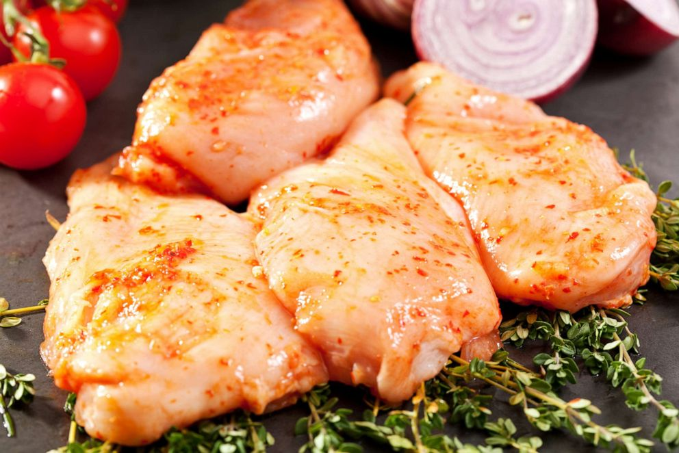 PHOTO: Marinated chicken is pictured in this undated stock photo.