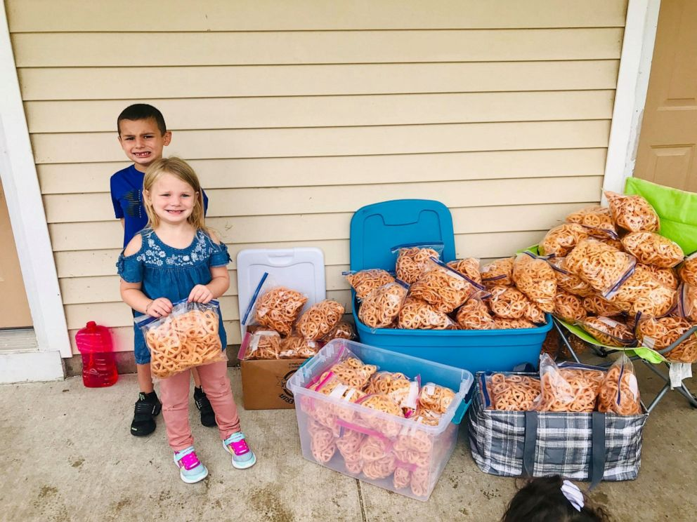PHOTO: The Quezada family make and sell fried pinwheel chips to raise money for back to school supplies for kids in need.