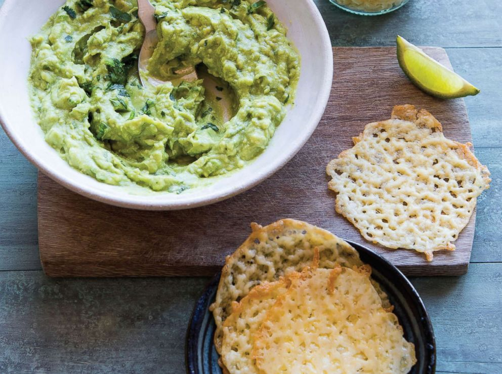 PHOTO: Cheese chips and guacamole by Jen Fisch of KetoIntheCity.com.