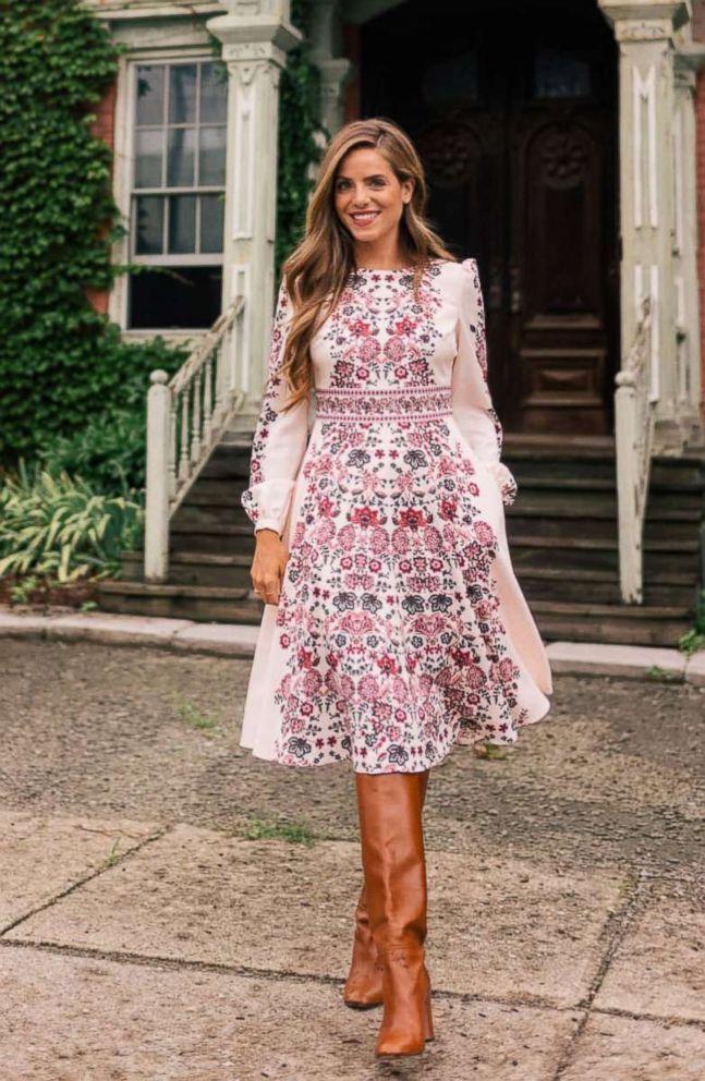 PHOTO: Chloe Floral Border Print A-Line Dress