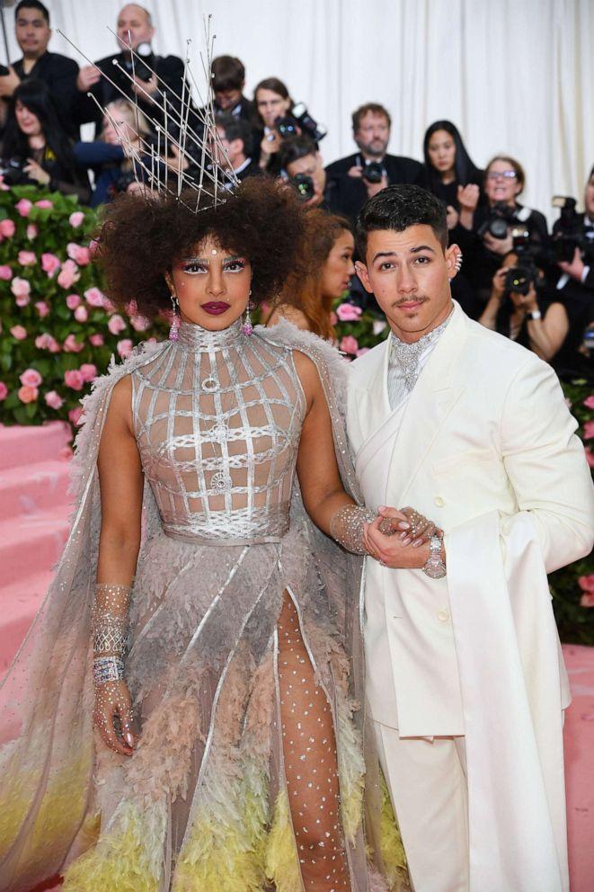 PHOTO: Priyanka Chopra and Nick Jonas attend the 2019 Met Gala Celebrating Camp: Notes on Fashion at the Metropolitan Museum of Art, May 6, 2019, in New York City.