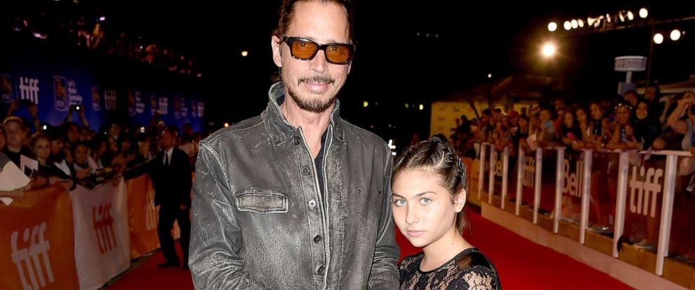 """PHOTO: In this file photo, musician Chris Cornell and his daughter, Toni Cornell, attend the """"The Promise"""" premiere during the 2016 Toronto International Film Festival at Roy Thomson Hall, Sept. 11, 2016, in Toronto."""