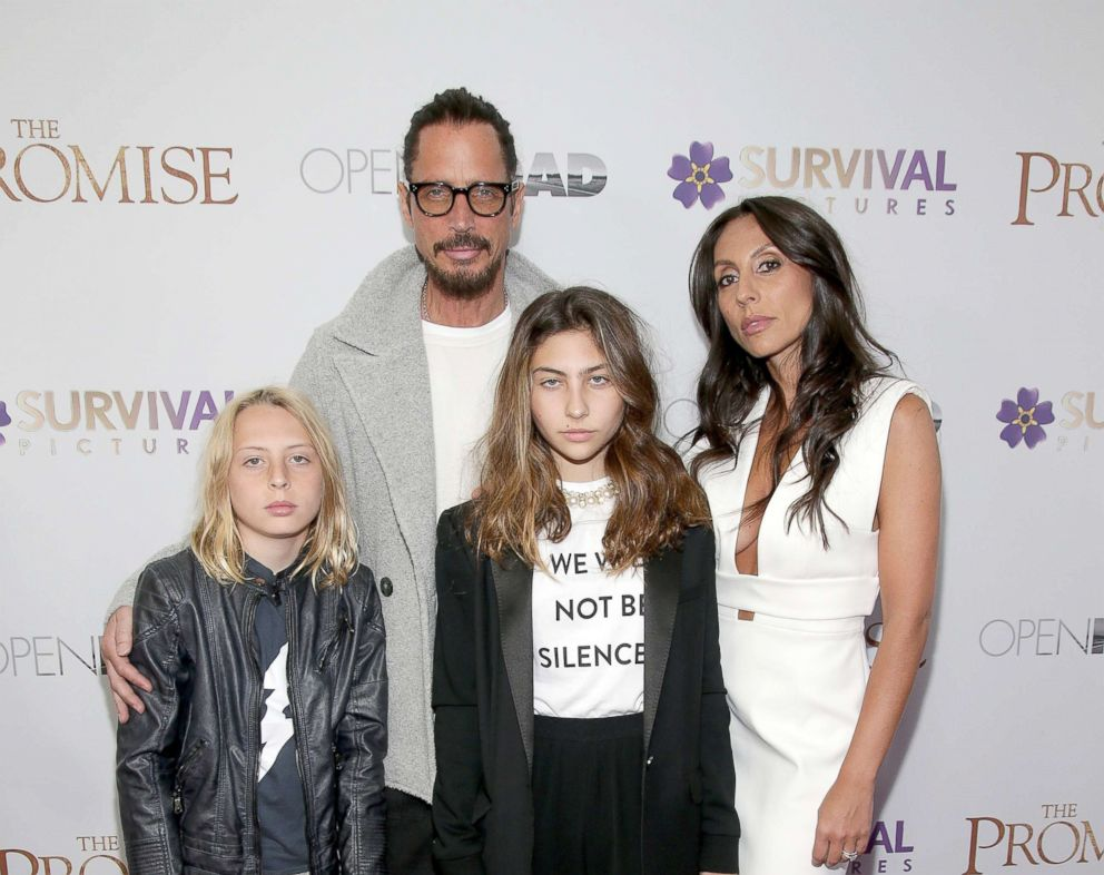 PHOTO: In this file photo, Chris Cornell with family attend The Promise New York Screening at Paris Theatre, April 18, 2017, in New York City.