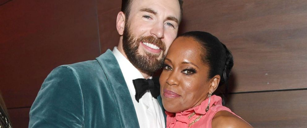 PHOTO: Chris Evans and Regina King attend the 2019 Vanity Fair Oscar Party hosted by Radhika Jones at Wallis Annenberg Center for the Performing Arts, Feb. 24, 2019, in Beverly Hills, Calif.