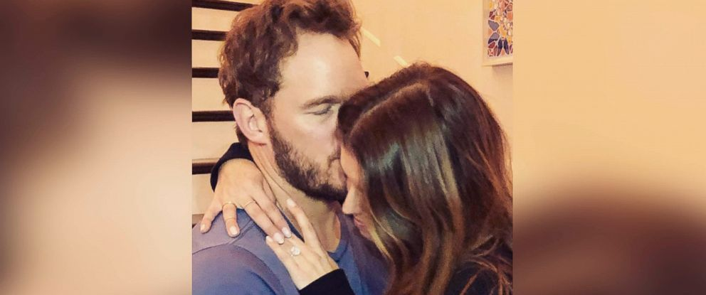 "PHOTO: Chris Pratt posted this photo on Instagram with this caption: ""Sweet Katherine, so happy you said yes! I'm thrilled to be marrying you. Proud to live boldly in faith with you. Here we go!"" Jan. 14, 2019."