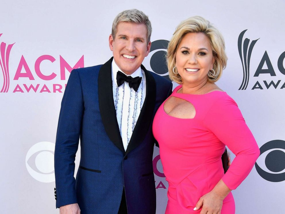 PHOTO: TV personalities Todd Chrisley and Julie Chrisley attend the 52nd Academy Of Country Music Awards at Toshiba Plaza on April 2, 2017 in Las Vegas, Nevada.