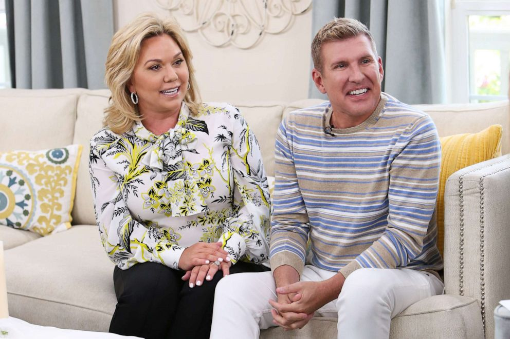 PHOTO: Reality TV Personalities Julie Chrisley and Todd Chrisley visit Hallmarks Home & Family at Universal Studios Hollywood on June 18, 2018 in Universal City, California.