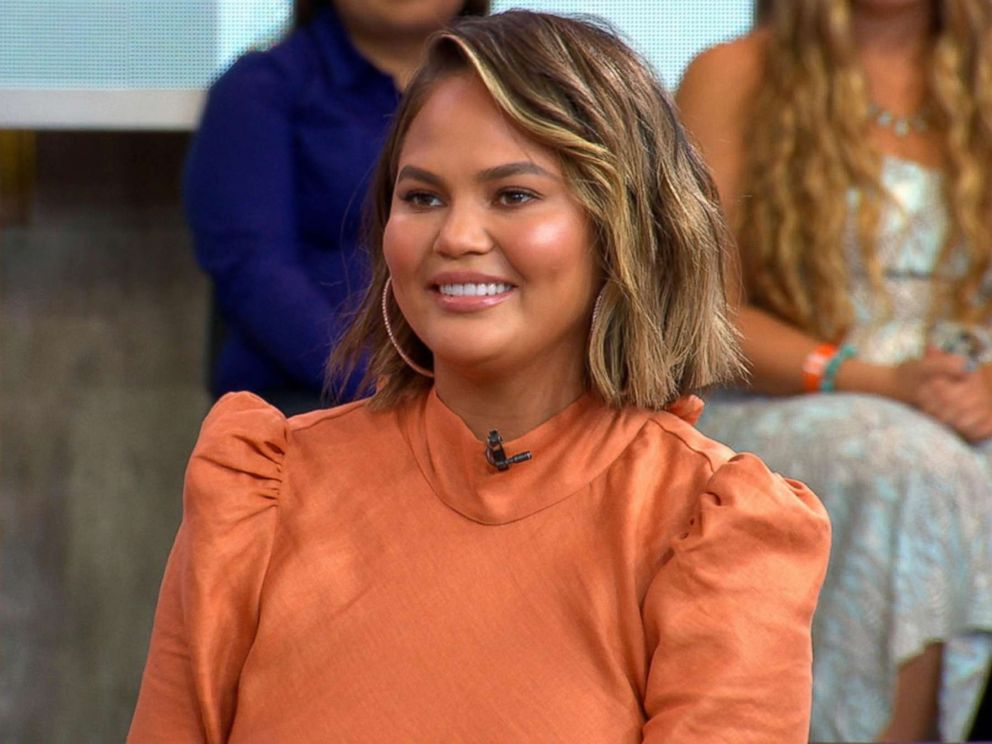 PHOTO: Chrissy Teigen shares a recipe from her new cookbook Cravings: Hungry for More on Good Morning America.