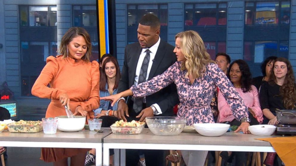 """Chrissy Teigen shares a recipe from her new cookbook """"Cravings: Hungry for More"""" on """"Good Morning America."""""""