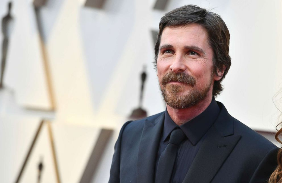 PHOTO: Christian Bale arrives at the Oscars, Feb. 24, 2019, at the Dolby Theatre in Los Angeles.
