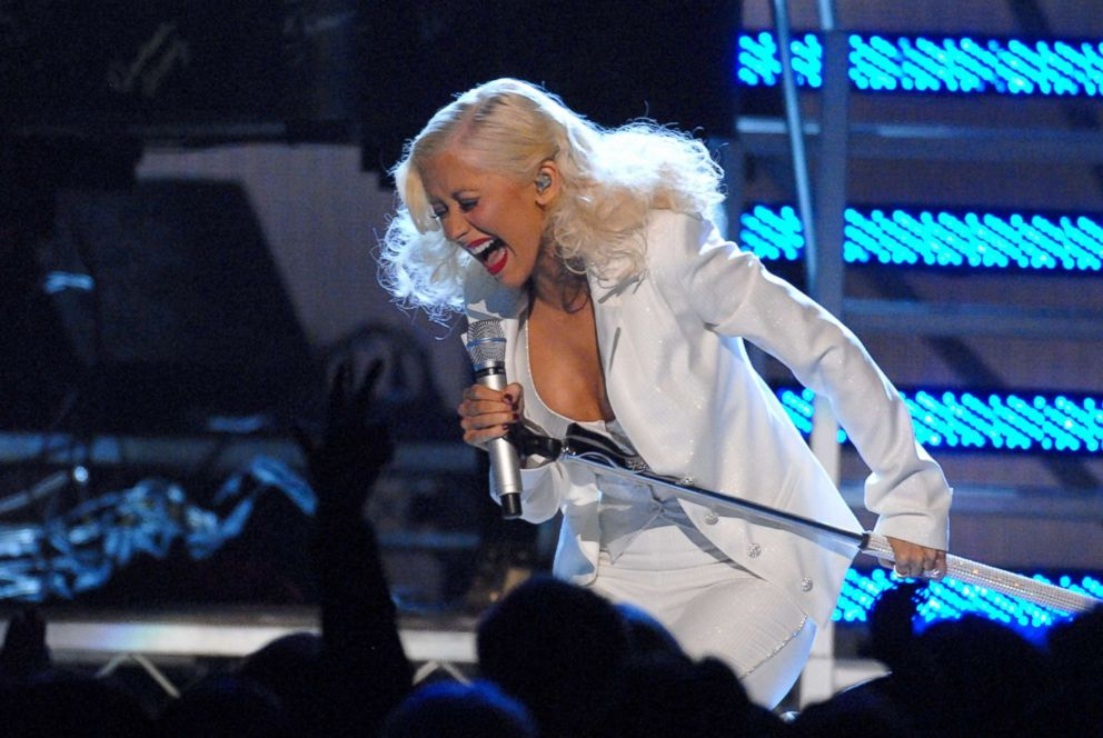 Christina Aguilera performs during the 49th Annual GRAMMY Awards in Los Angeles, Feb. 12, 2007.