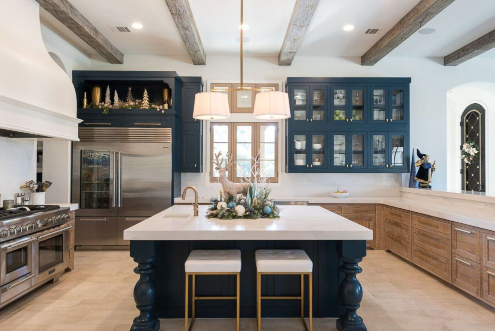 photo a kitchen is decorated for christmas by baker design group