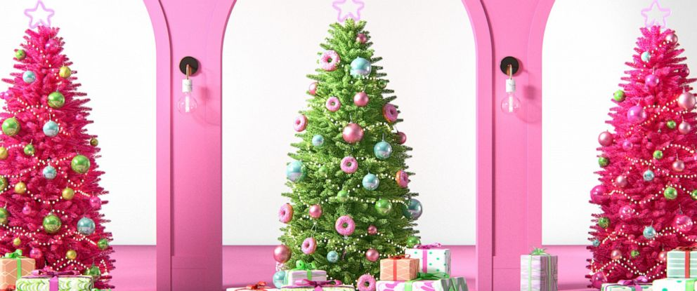 PHOTO: Pink Christmas trees from Wayfair.com are pictured here.