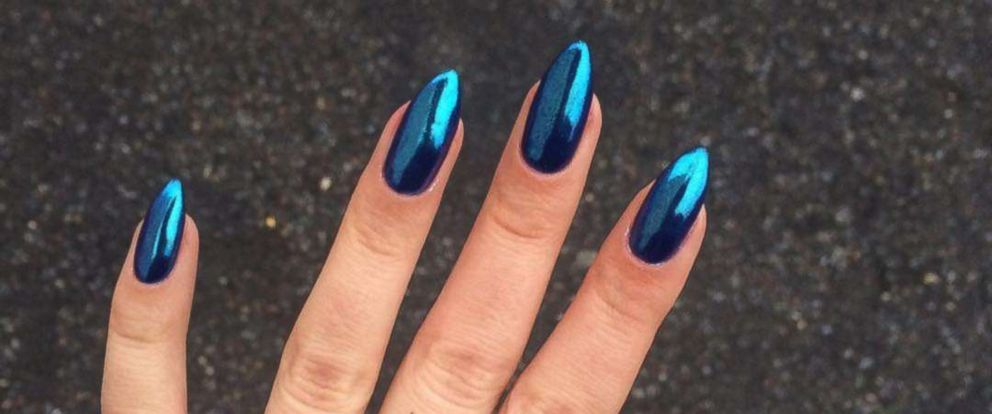PHOTO: Chrome nails are the shiny new nail trend.